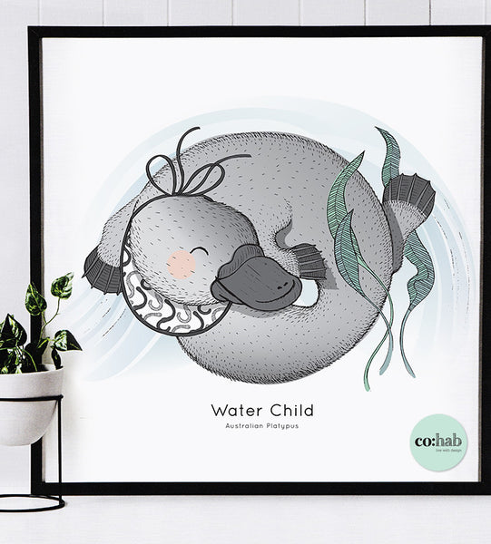 Water Child - Australian Platypus (A3)