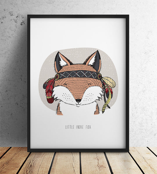 Little Indie Fox (A3)