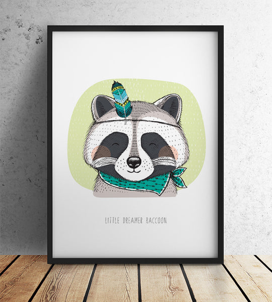 Little Dreamer Raccoon (A3)