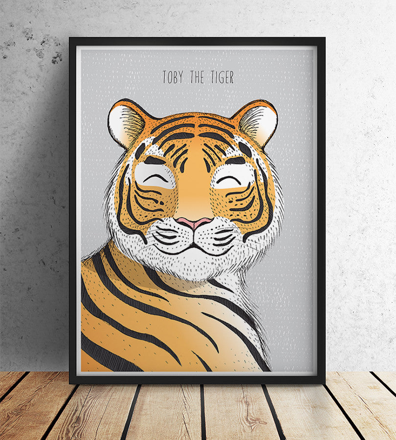 Wild animal tiger print boy wall decor