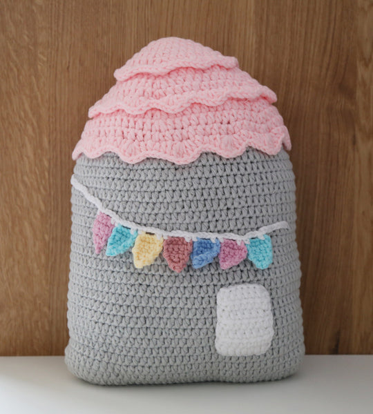 Handmade Crochet house cushion