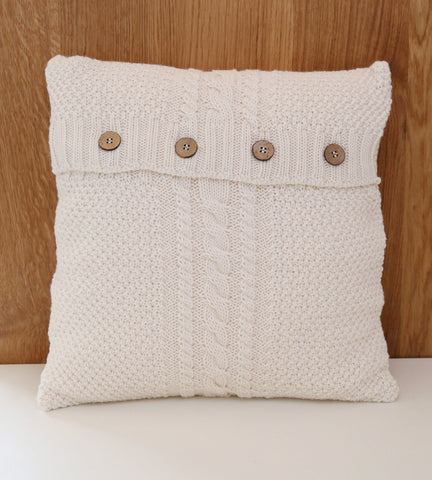 Knit Cushion Cover - Cream