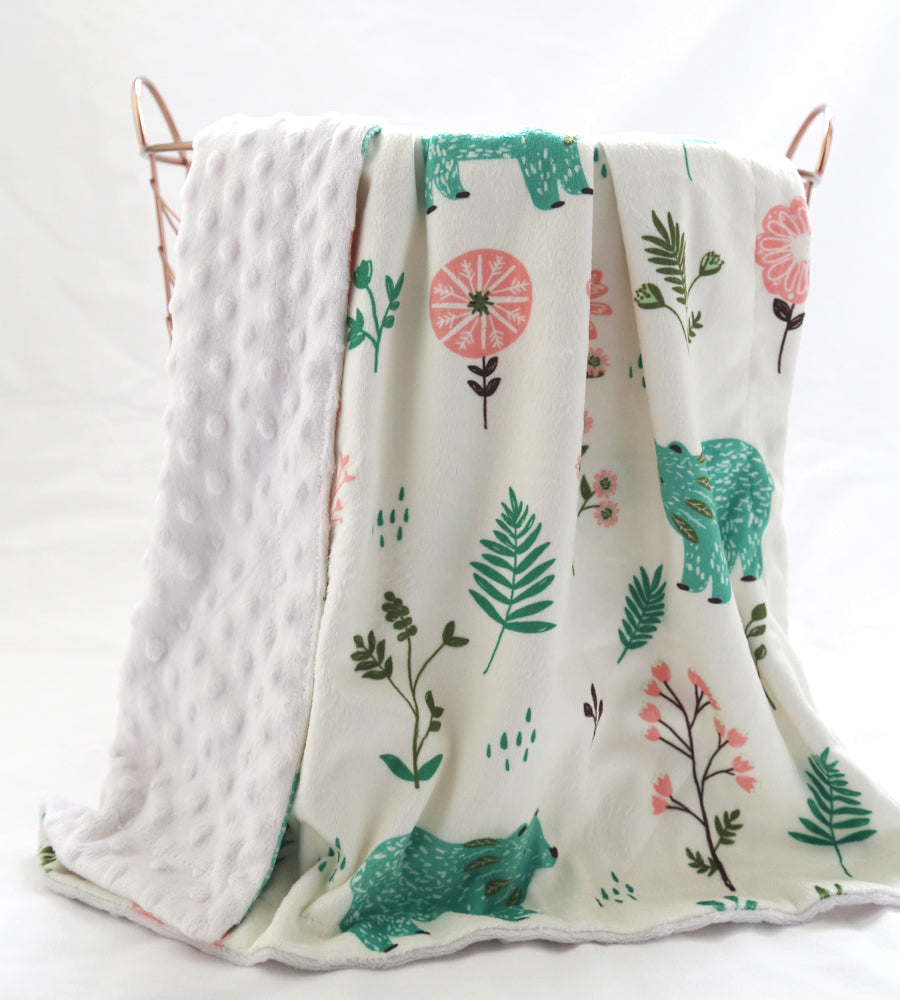 Bear scandi minky blanket