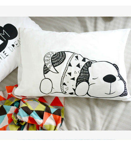 Sleepy Puppy Pillowcase - Black