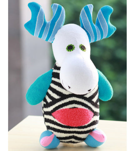 Miles the moose sock animal nursery toy