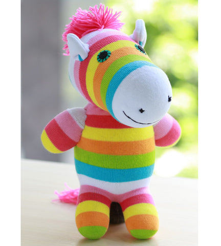 Zena the zebra sock animal girl toy