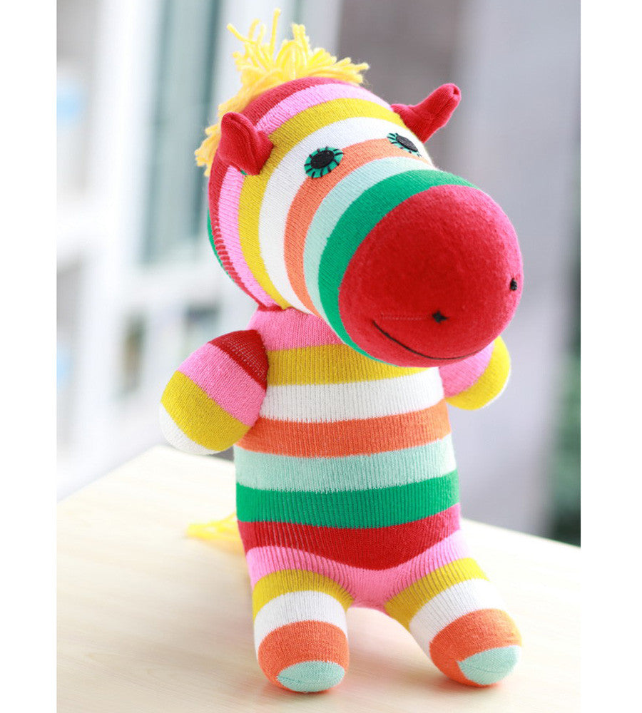 zoe the zebra sock animal girl toy