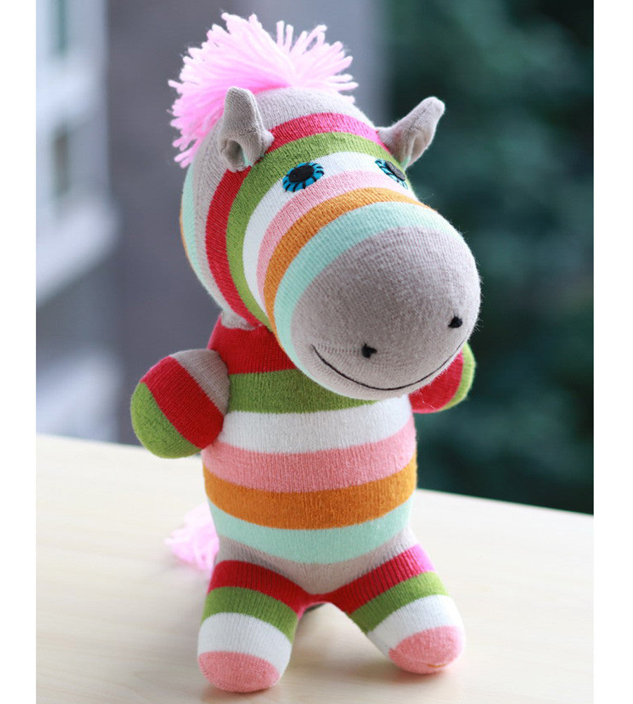 zoya the zebra sock animal girl toy