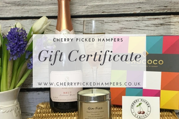 Gift Voucher - Christmas Gifts - Cherry Picked Hampers - 100% Dorset
