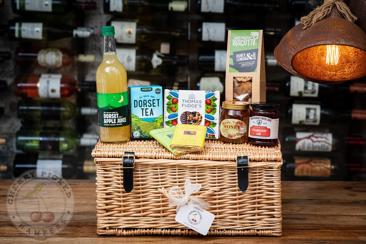 Dorset Nibbles with Apple Juice - Corporate Hampers - Cherry Picked Hampers - 100% Dorset