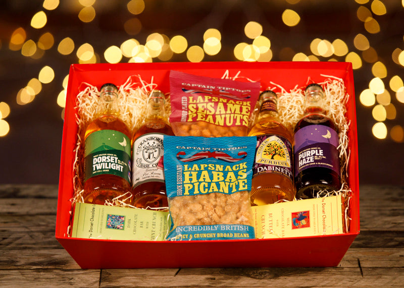 Christmas Cider and Snacks Surprise - Christmas Gifts - Cherry Picked Hampers - 100% Dorset