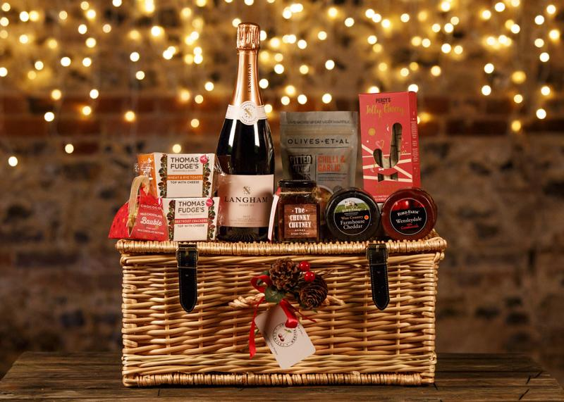 Christmas Wicker Hamper