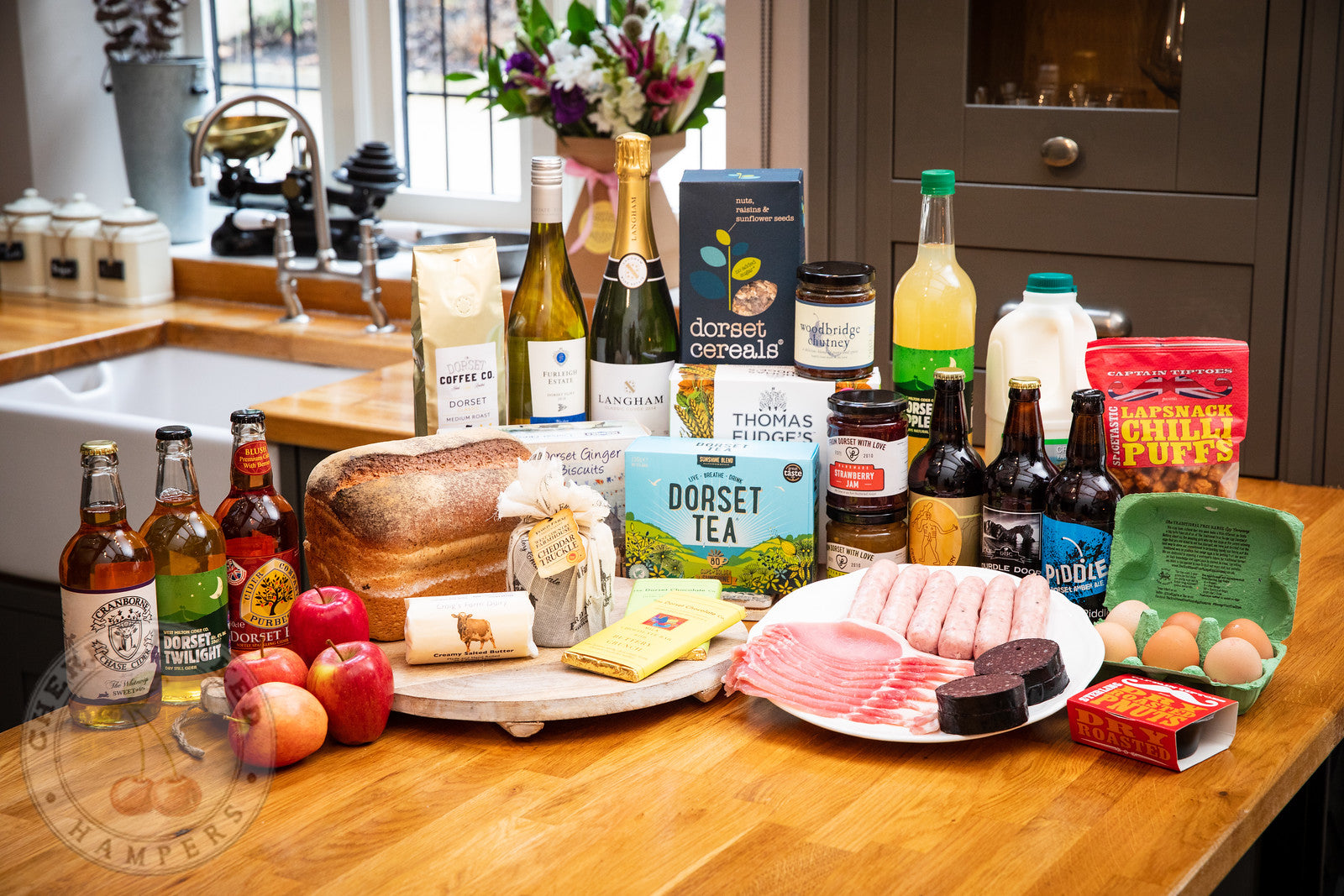 Poundbury Welcome Hamper - Holiday Hampers - Cherry Picked Hampers - 100% Dorset