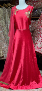 Ruby Red XXL Anarkali PWA-004