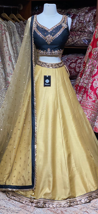 Bright Gold Bridesmaids Lehenga BML-019
