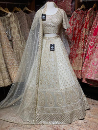 Daisy White Lucknowi Bridal Wear Lehenga BWL-066