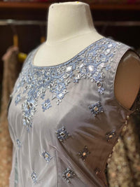 Lava Grey Party Wear Suit Collection PWS-034