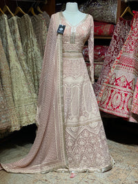 French Rose XXL Anarkali PWA-013