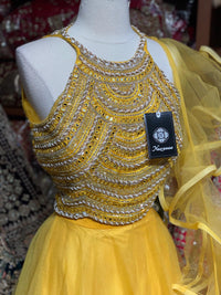 Sunshine Yellow Party Wear Lehenga PWL-080