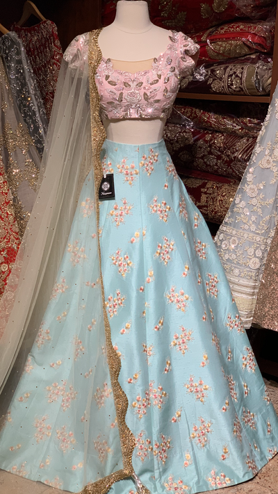 The Candy Floss Pastel Lehenga-PW06