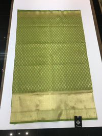 Pista Green Art Banarasi Saree