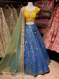 Space Blue Party Wear Lehenga PWL- 040