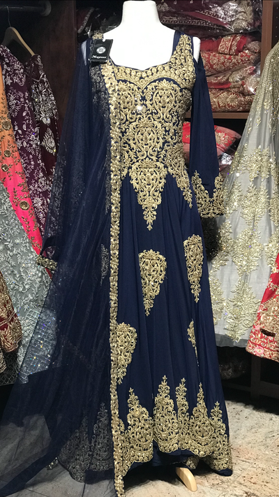 Navy Size XL Lycra Anarkali