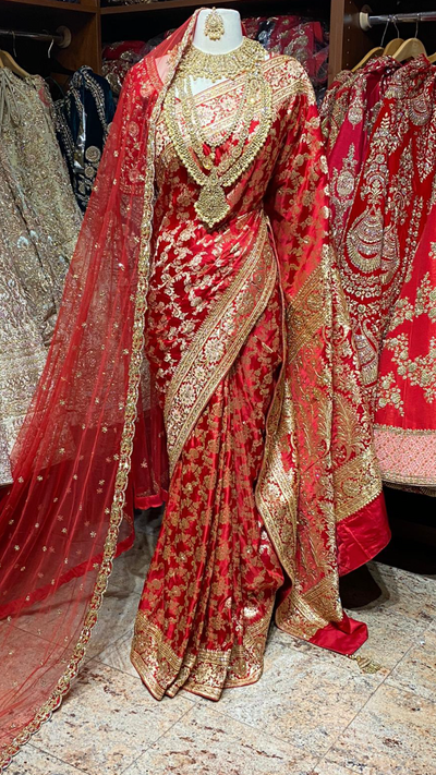 Pure Silk Banarasi Bridal Saree