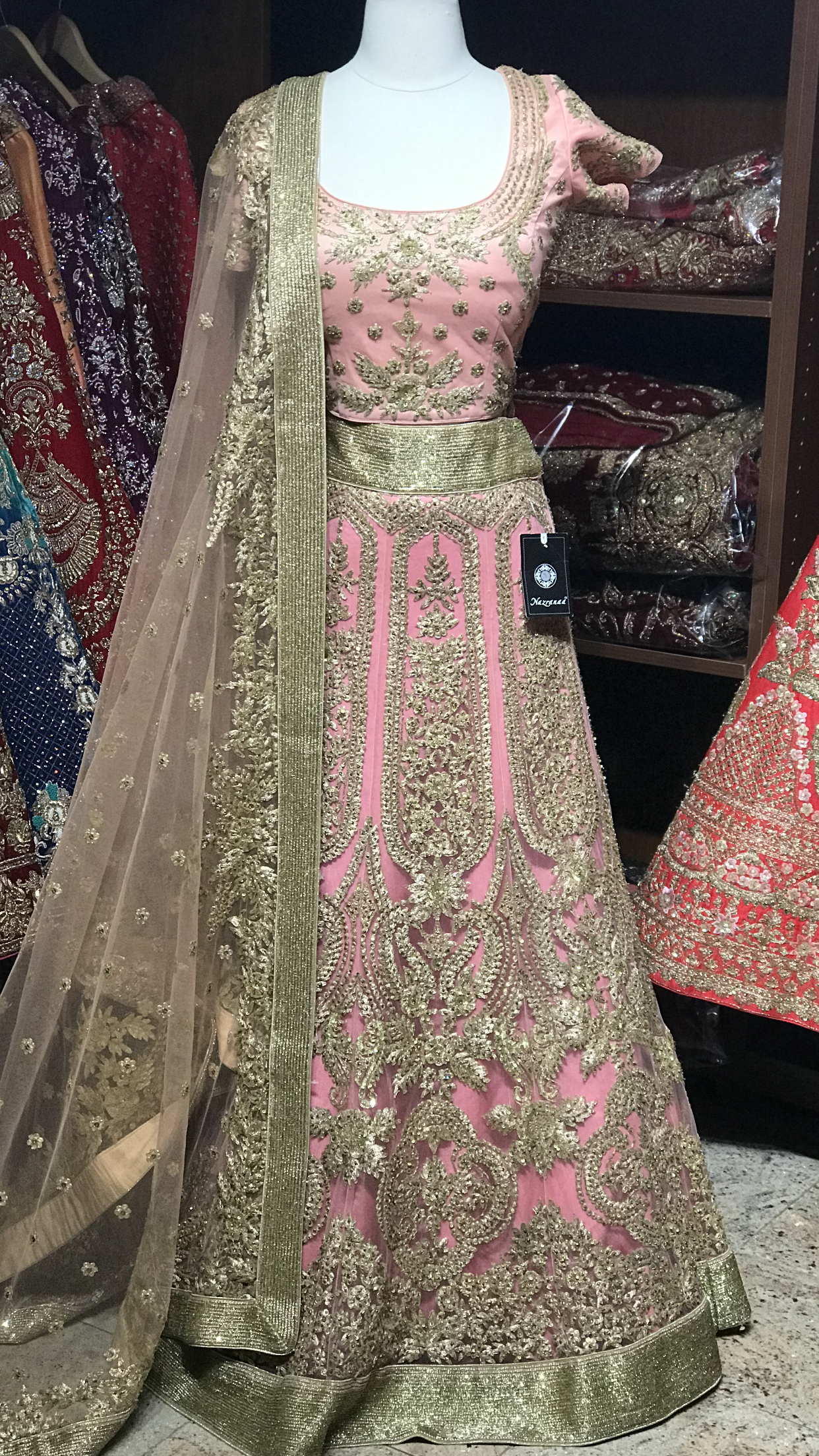 Two Tone Size 38 Blush Lehenga