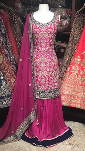 Pink 38/42 Palazzo Suit