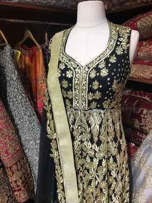 Black Size 38 Heavy Anarkali