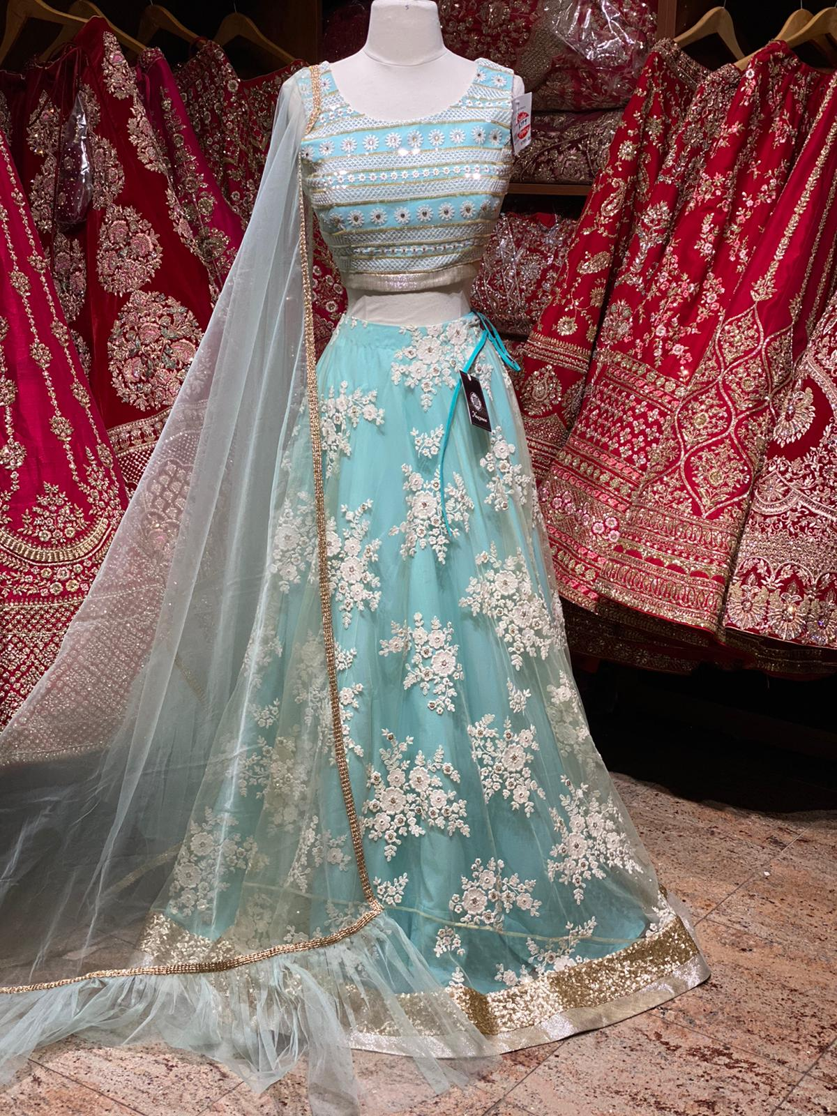 Powder Blue Party Wear Lehenga PWL-115