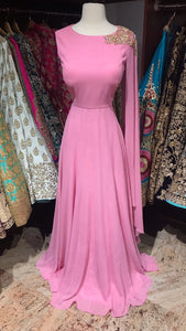 Bridesmaids Pink Georgette Anarkali
