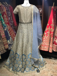 Frozen Blue Size 38 Anarkali