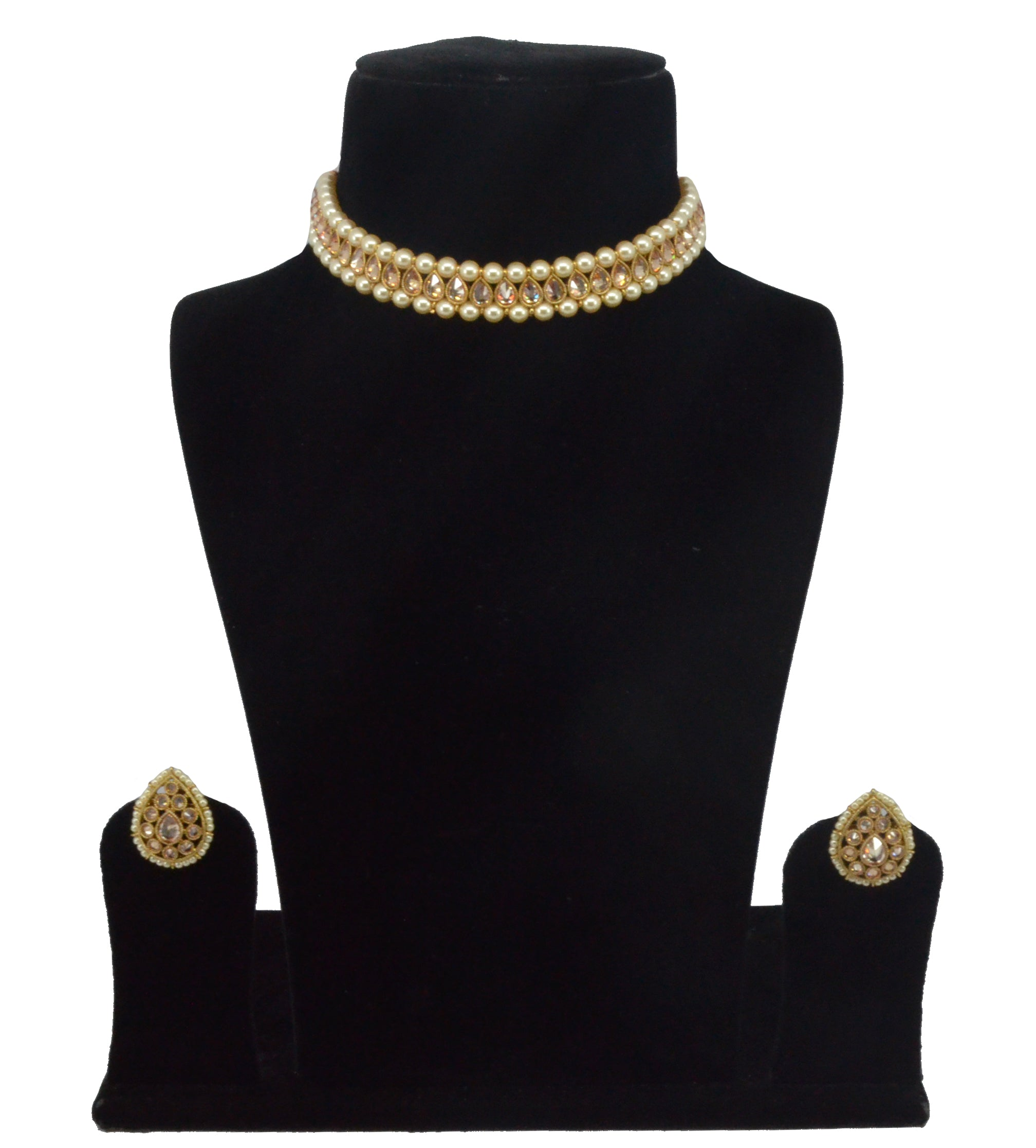 Amreen Choker Set W/ Earrings