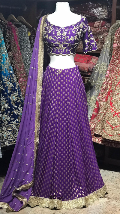 The Purple Petunia  Lehenga-PW39