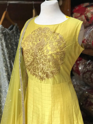 Chanderi Silk Size 42 Anarkali