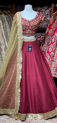 Ruby Red Bridesmaids Lehenga BML-020