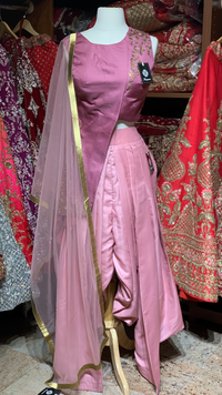 Purple Size 38 Dhoti Suit