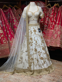 Jasmine White Bridal Wear Lehenga BWL- 103