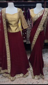 Burgundy Bridesmaids Outfit