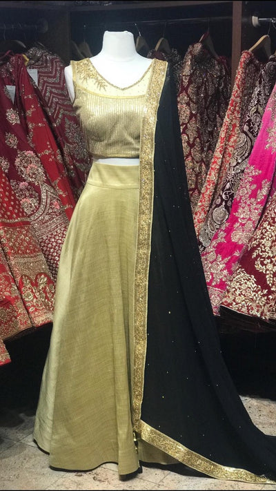 Gold Bridemaid's Lehenga
