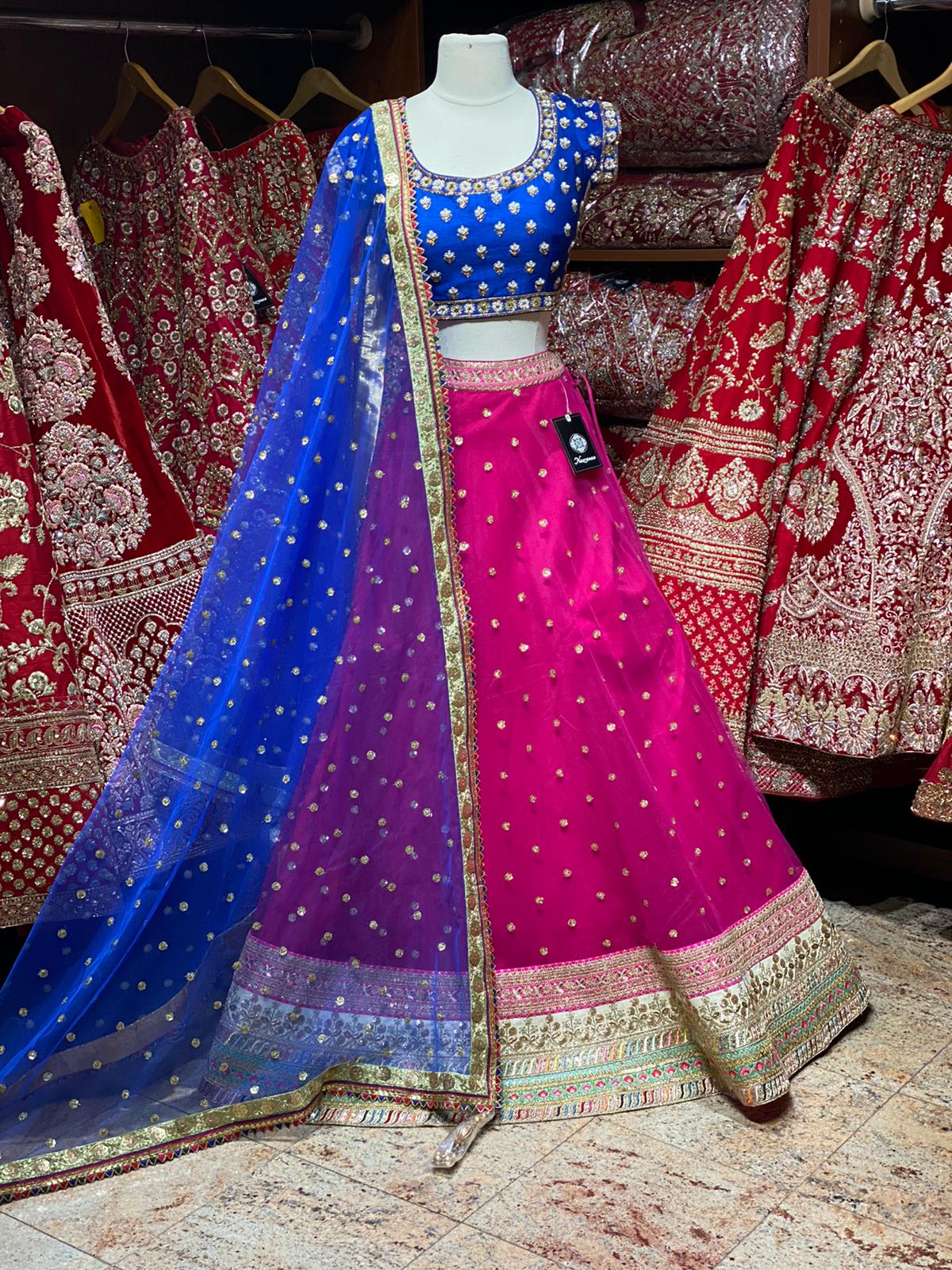 Hot Pink Party Wear Lehenga PWL-118