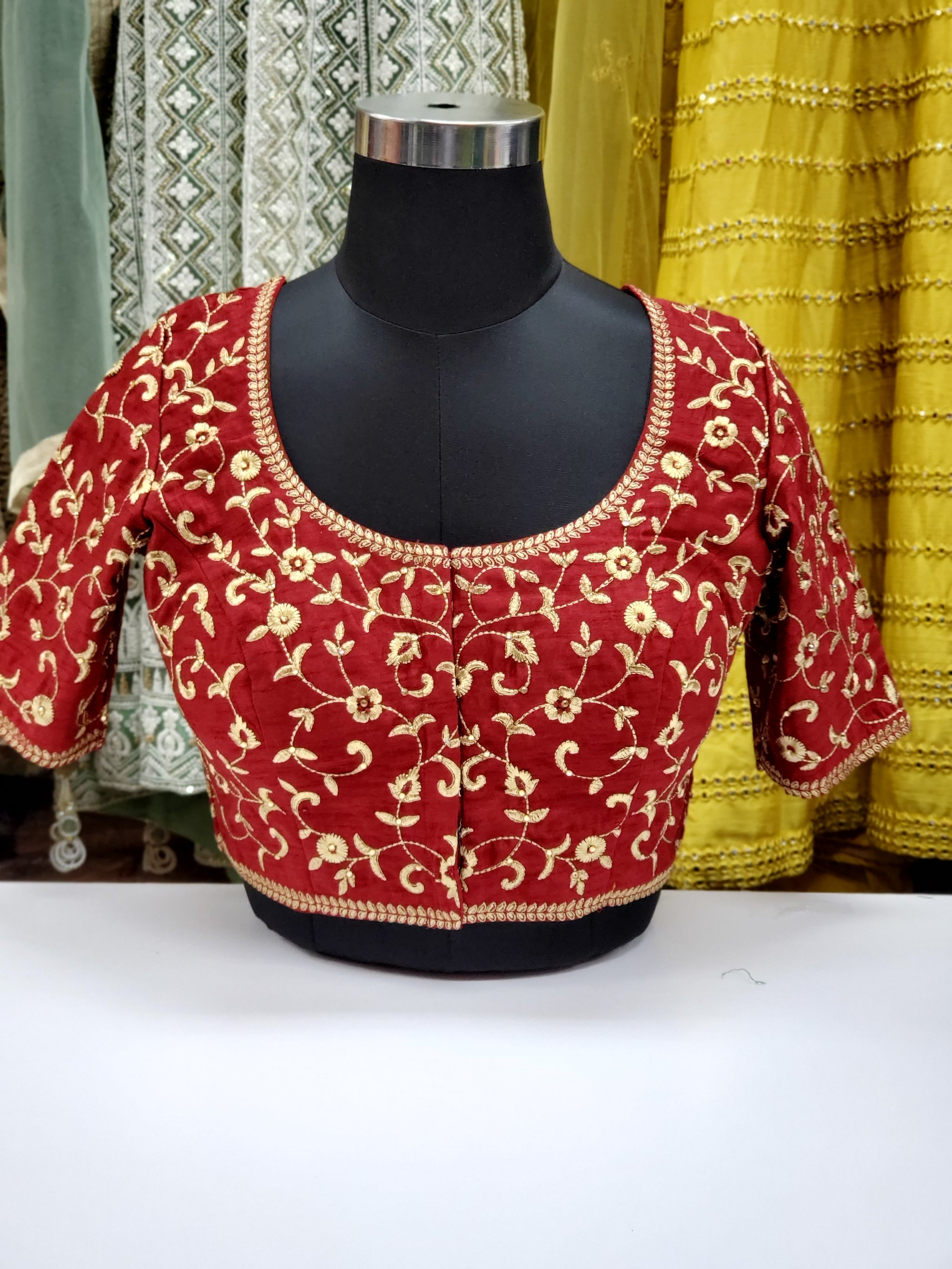 Fancy Embroidered Blouse R1S28