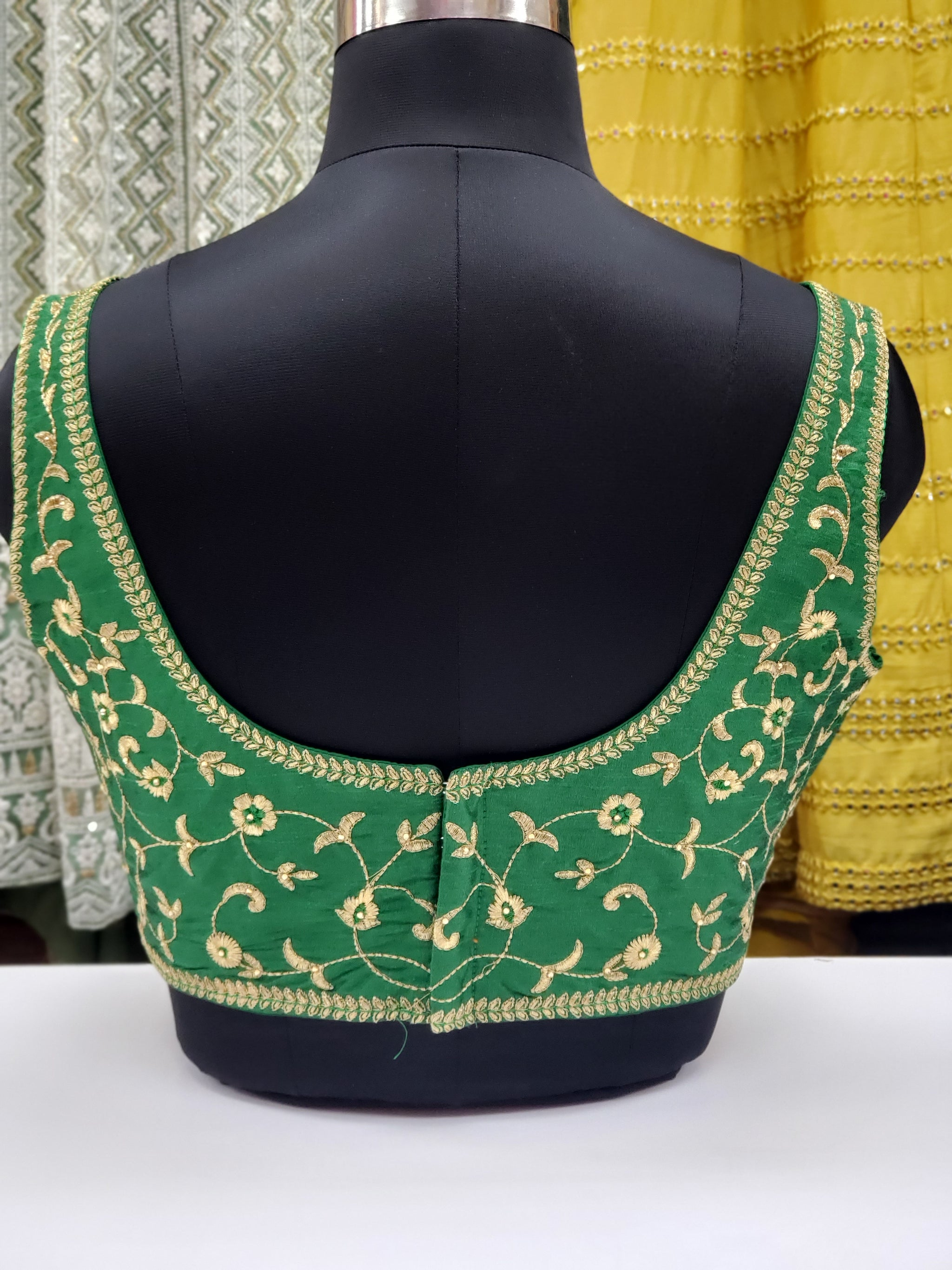 Fancy Embroidered Sleeveless Blouse R1S22