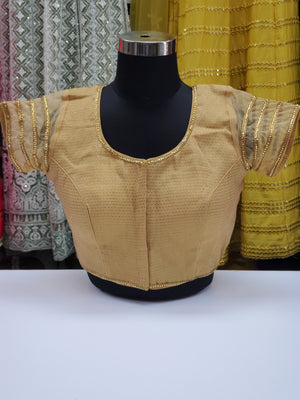 Fancy Gold Brocade Blouse R1S21