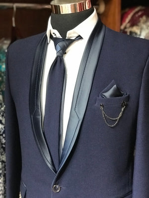 Navy Men's Suit W/ Shirt & Tie