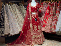 Barn Red Party Wear Lehenga PWL-008