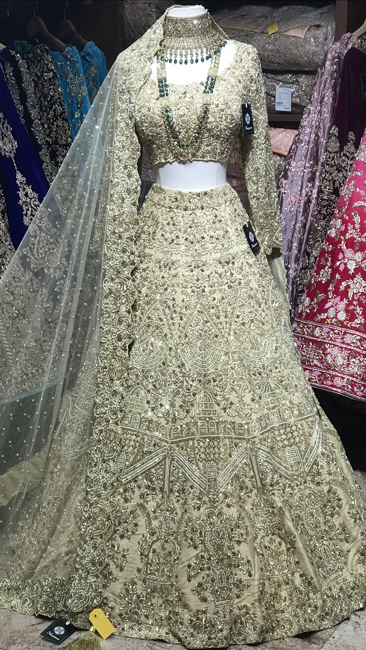 Gold Heavy Bridal Lehenga