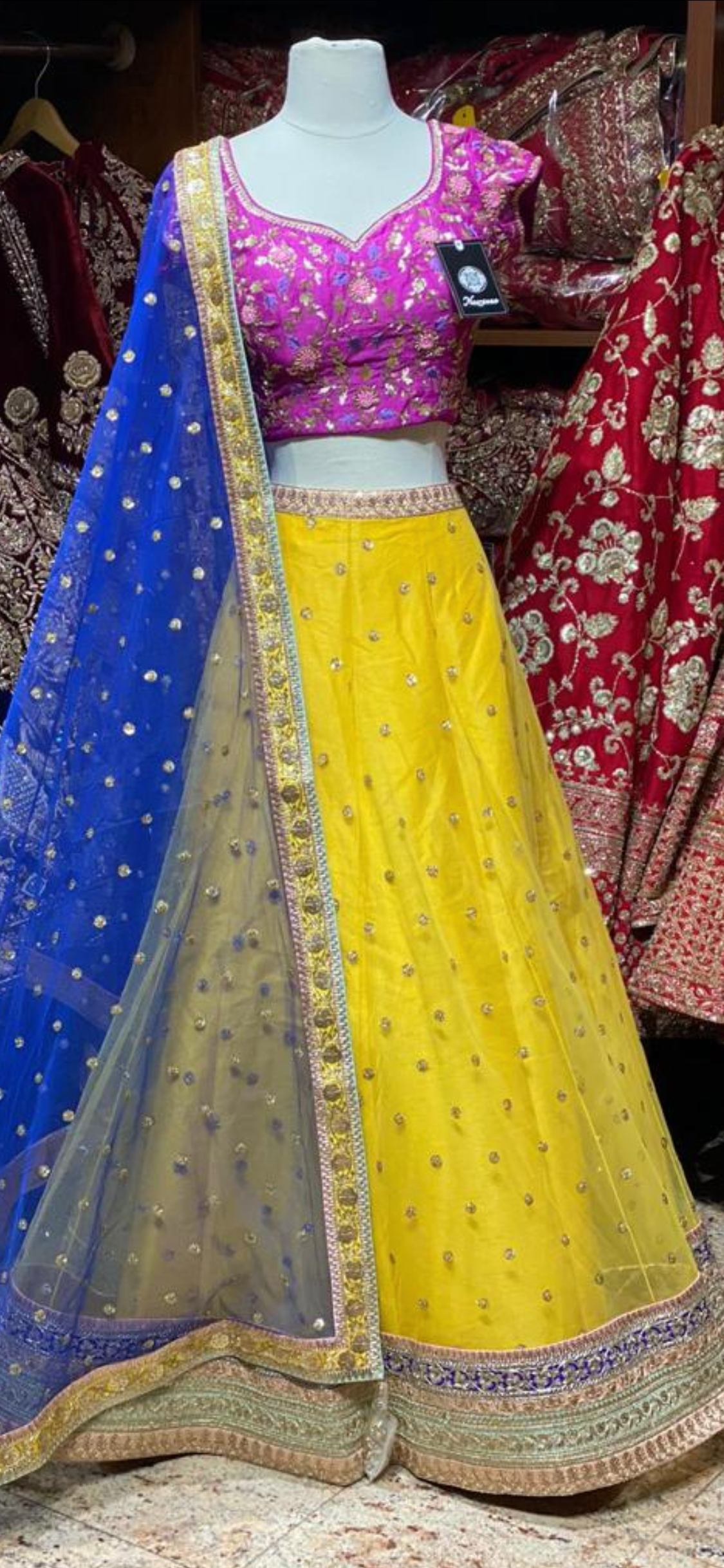Canary Yellow Party Wear Lehenga PWL-110